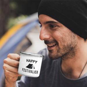 Mug émaillé céramique Happy...