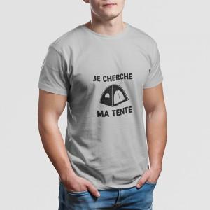 T-shirt Je cherche ma tente...