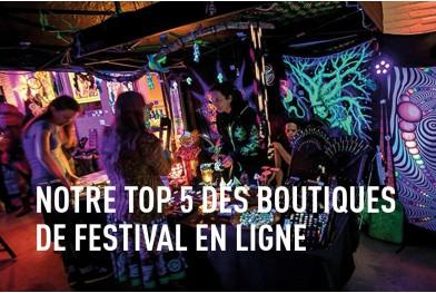 Notre top 5 des boutiques de festival en ligne