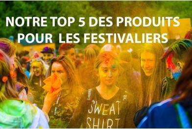 Notre top 5 des produits pour les festivaliers